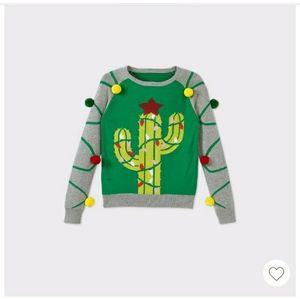 Girls Cactus Pullover Sweater